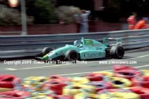 Leyton House March 90B photo  Paul Warwick.  1990 Birmingham Superprix F3000 (c)